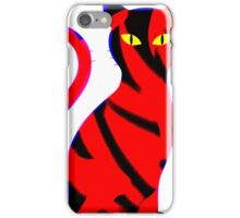 Sly Cat Red iPhone Case/Skin
