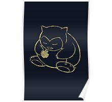 Snorlax loves Apple Poster