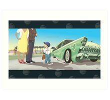 Car Dent Art Print