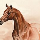 Vintage Chestnut Horse by Nina Smart