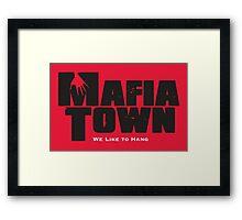 Mafia Town Logo (Black/White) Framed Print