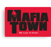 Mafia Town Logo (Black/White) Canvas Print