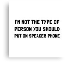 Person On Speaker Phone Canvas Print