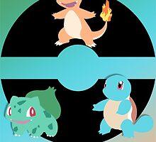 Generation 1 Pokemon starters - Charmander Squirtle Bulbasaur by BK4REVENGE