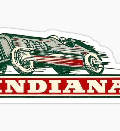 Indiana IN State Indianapolis Vintage Travel Decal Sticker