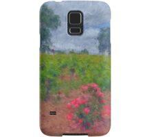 Vineyard Roses in a Van Gogh Landscape Samsung Galaxy Case/Skin