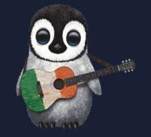Baby Penguin Playing Irish Flag Guitar Kids Clothes