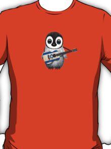 Baby Penguin Playing Israeli Flag Guitar T-Shirt