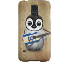 Baby Penguin Playing Israeli Flag Guitar Samsung Galaxy Case/Skin