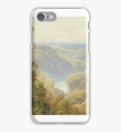 Harry Sutton Palmer )  The River Ure, Vale of Mowbray from Hackfall, near Ripon, Yorks iPhone Case/Skin