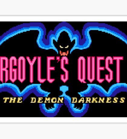 Gargoyle's Quest 2 (NES Title Screen) Sticker