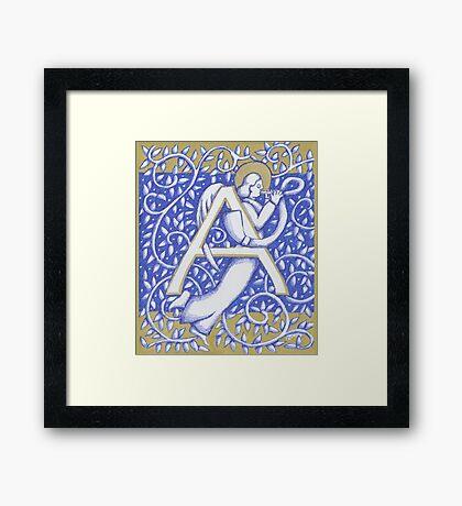 Angel Letter A 2017 Framed Print