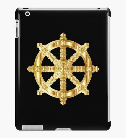 Golden Dharma Wheel iPad Case/Skin