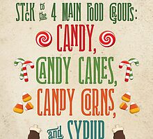 Buddy the Elf - The Four Main Food Groups by noondaydesign