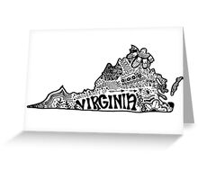 Hipster University of Virginia Outline Greeting Card