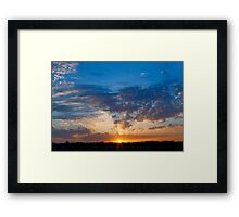 Midwestern Sunset Sky Framed Print