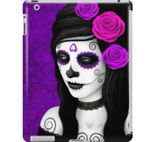 Day of the Dead Girl with Purple Roses  iPad Case/Skin