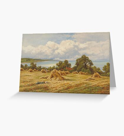 Henry Hillingford Parker  Harvest Time on the Sussex Coast Greeting Card
