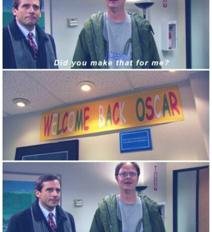 Welcome Back Oscar Sticker