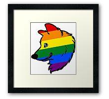 Gay Wolf Framed Print