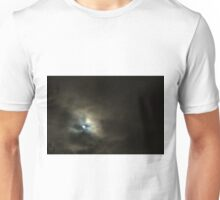 The moon on a cloudy night. Unisex T-Shirt