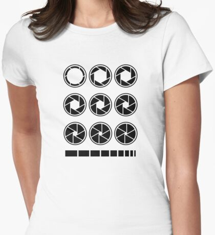 Aperture Value Womens Fitted T-Shirt