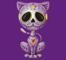 Purple Zombie Sugar Kitten Cat T-Shirt