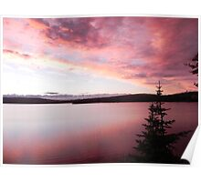 Second Lake Sunset 2 Poster