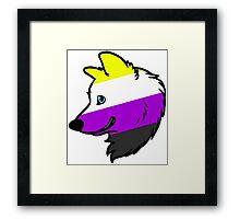 Nonbinary Wolf Framed Print