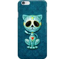 Blue Zombie Sugar Kitten Cat iPhone Case/Skin