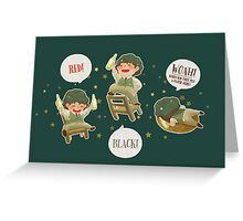 les miserables - grantaire Greeting Card