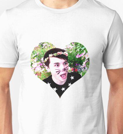 Heart Flower Crown Dan Howell Unisex T-Shirt