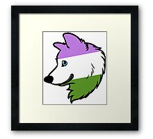 Genderqueer Wolf Framed Print