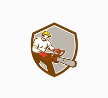 Lumberjack Tree Surgeon Arborist Chainsaw Shield Unisex T-Shirt