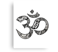 Om Sign Canvas Print