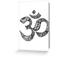 Om Sign Greeting Card