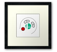 Smash Bros Gamecube Controller Framed Print