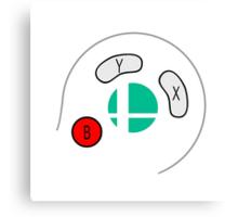 Smash Bros Gamecube Controller Canvas Print