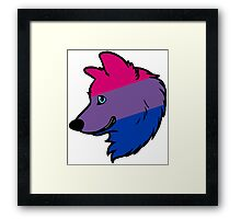 Bisexual Wolf Framed Print