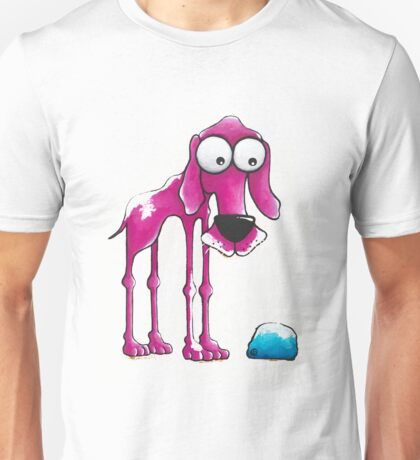 The Pink Dog and his ball Unisex T-Shirt