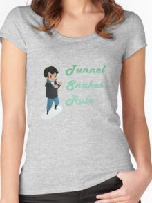 Tunnel Snakes Rule! Women's Fitted Scoop T-Shirt