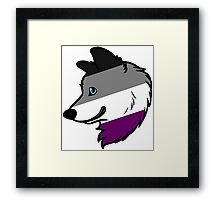 Asexual Wolf Framed Print