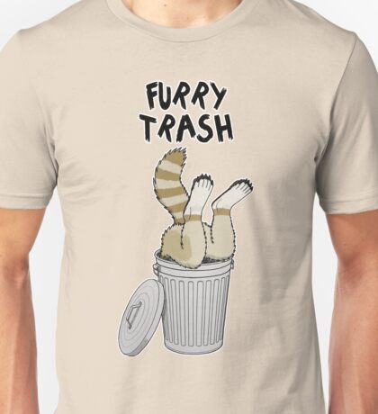 Furry Trash - Cinnamon Raccoon Unisex T-Shirt