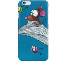 Mouse in a paper aeroplane iPhone Case/Skin