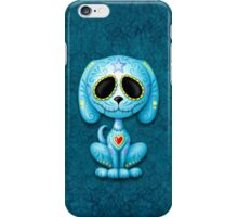 Blue Zombie Sugar Skull Puppy Dog iPhone Case/Skin