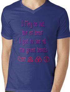I may be old... ZEPPELIN! Mens V-Neck T-Shirt