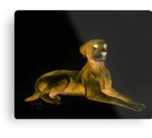 Goosebumps Dog Halloween Painting Metal Print