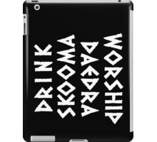 drink skooma worship daedra iPad Case/Skin