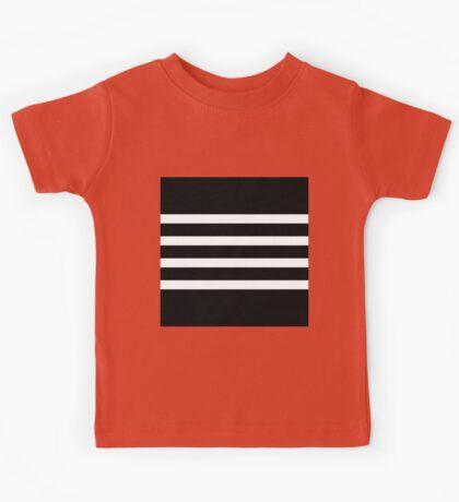 Modern Black and White Stripe Kids Tee