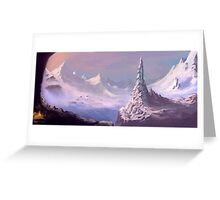 Snowy Voyage Greeting Card